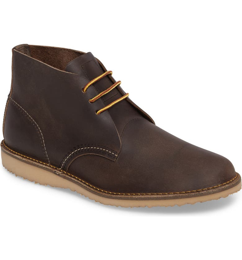 RED WING Chukka Boot, Main, color, CONCRETE LEATHER
