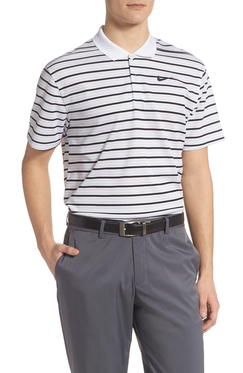 NIKE Golf Dri-Fit Victory Polo Shirt, Main, color, WHITE/ PURE PLATINUM/ BLACK