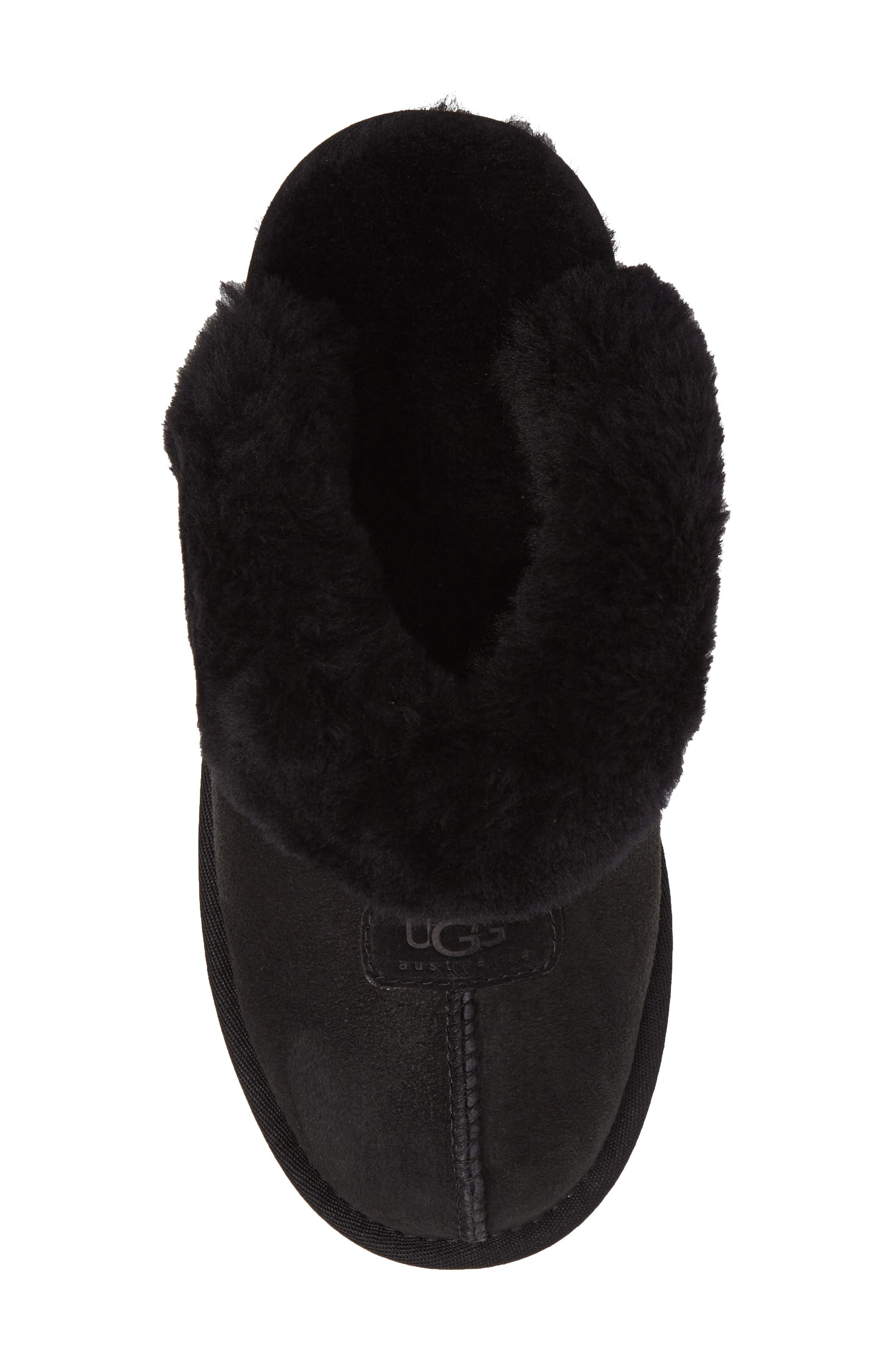 ,                             Genuine Shearling Slipper,                             Alternate thumbnail 154, color,                             BLK