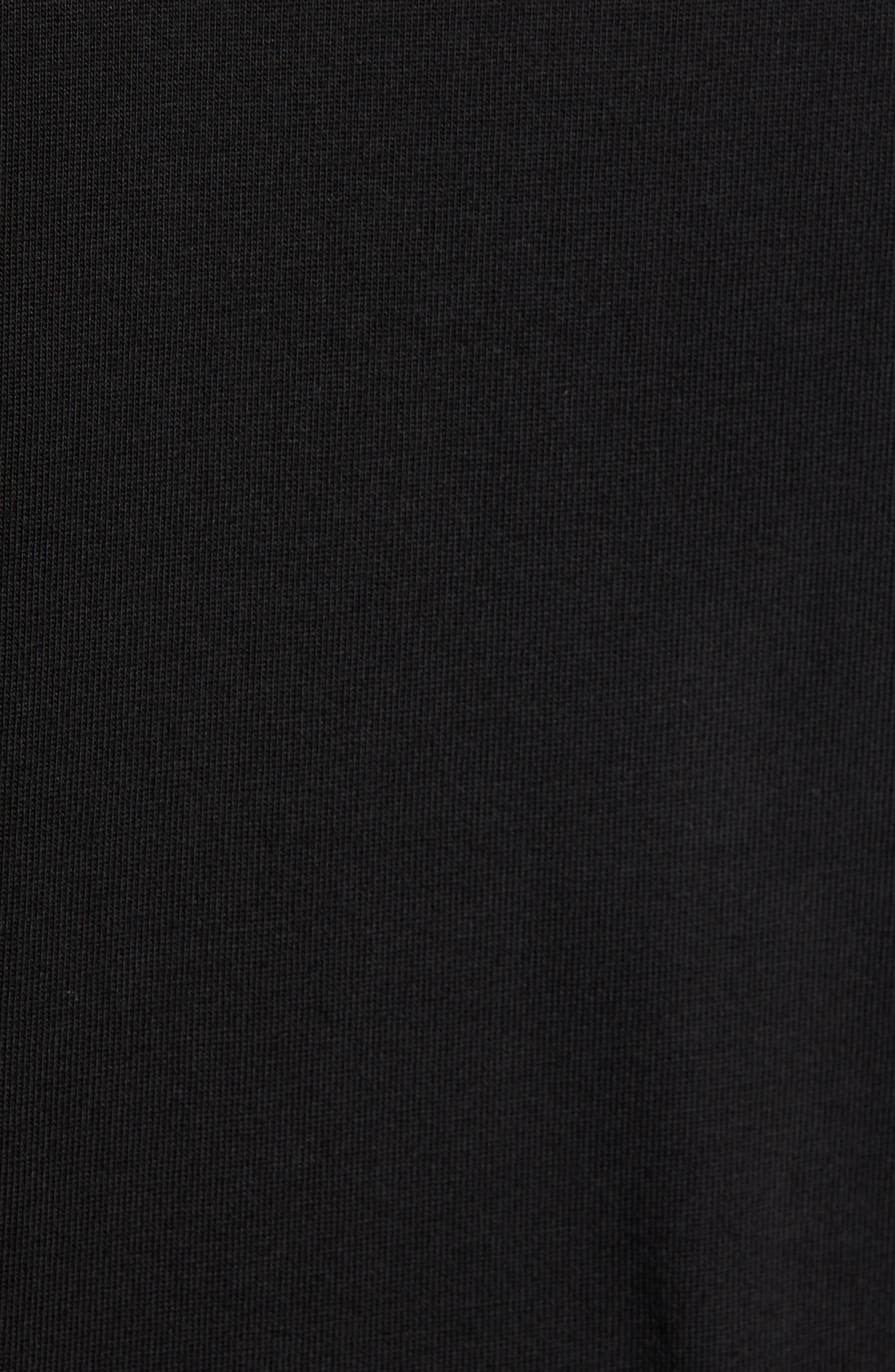 ,                             Premium Transfer Logo T-Shirt,                             Alternate thumbnail 5, color,                             BLACK