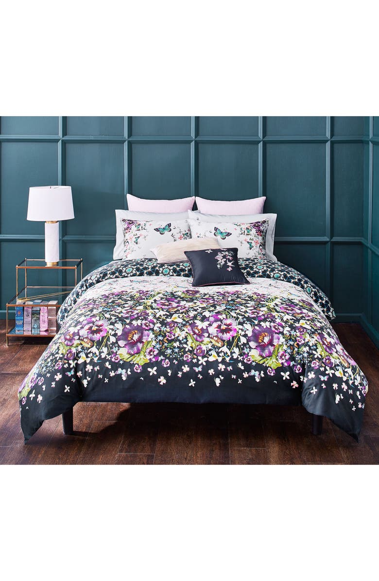 TED BAKER LONDON Entangled Enchantment Duvet Cover & Sham Set, Main, color, SKY
