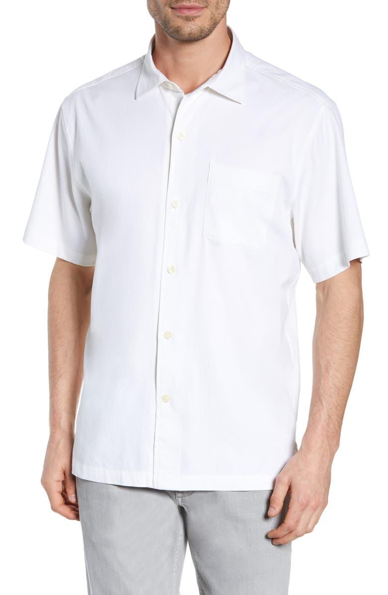 TOMMY BAHAMA Catalina Silk Blend Shirt, Main, color, WHITE