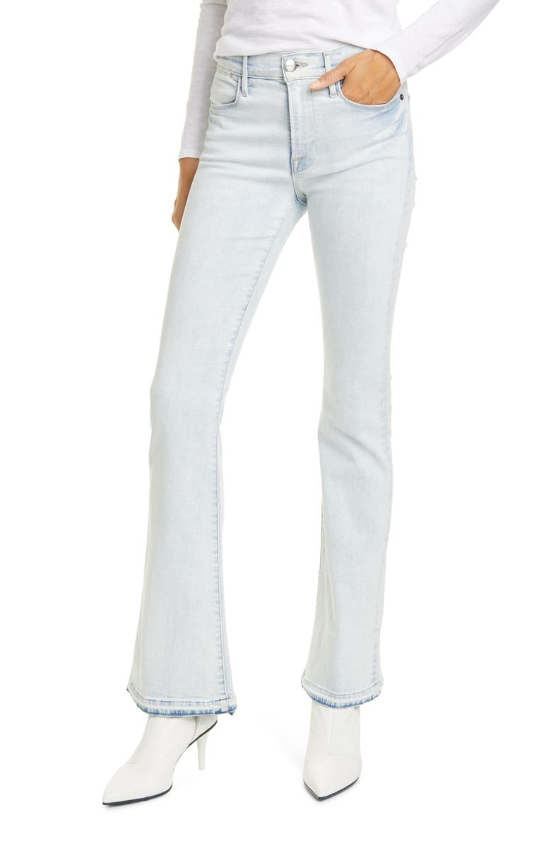 FRAME Le Pixie High Waist Released Flare Jeans, Main, color, PALI