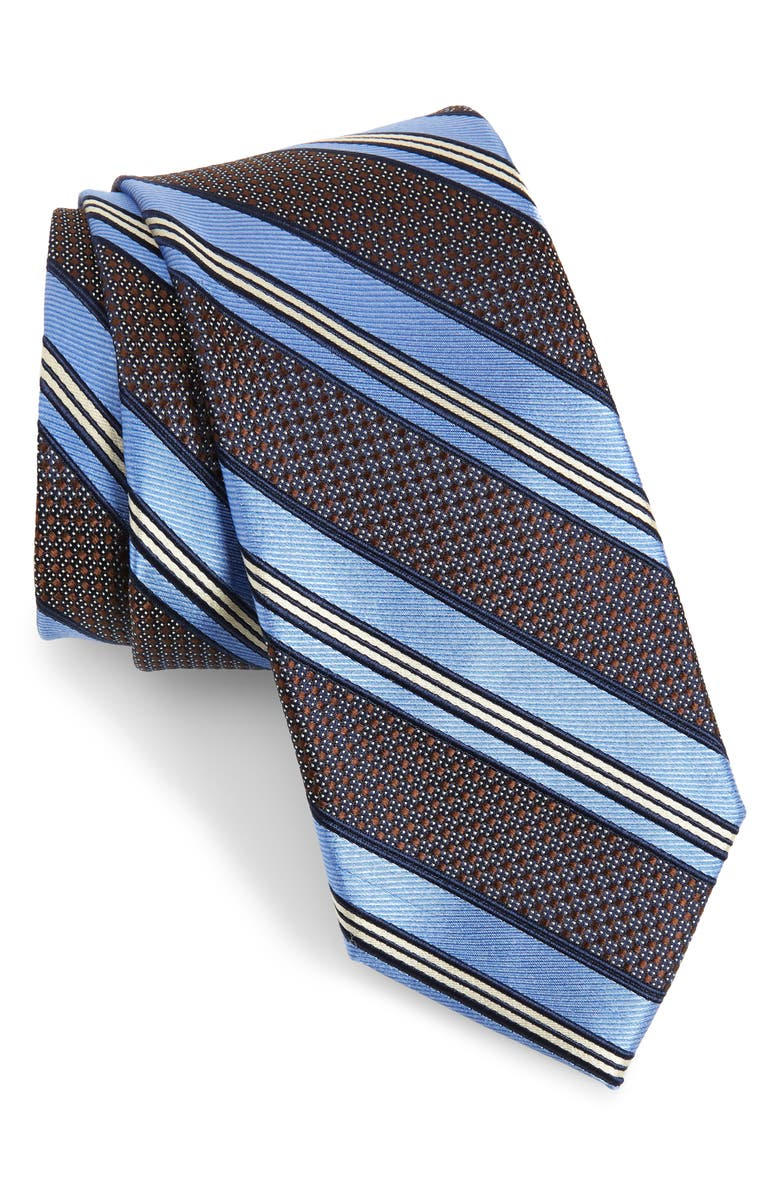 NORDSTROM MEN'S SHOP Christophe Stripe Silk Tie, Main, color, 200