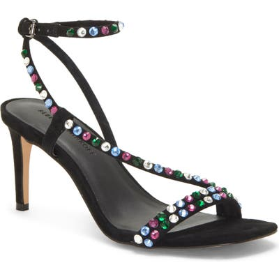 Rebecca Minkoff Nanine Crystal Embellished Sandal- Black