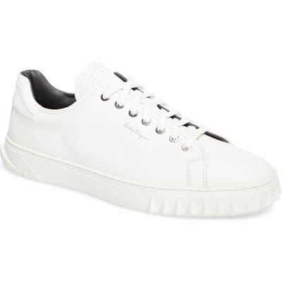 Salvatore Ferragamo Cube Sneaker- White