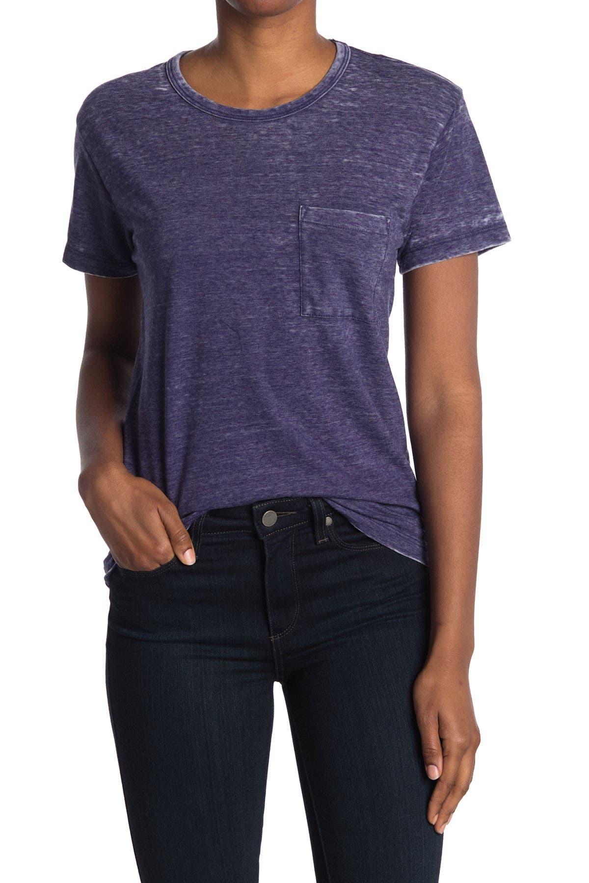 Image of J. Crew Burnout Pocket Crew Neck T-Shirt