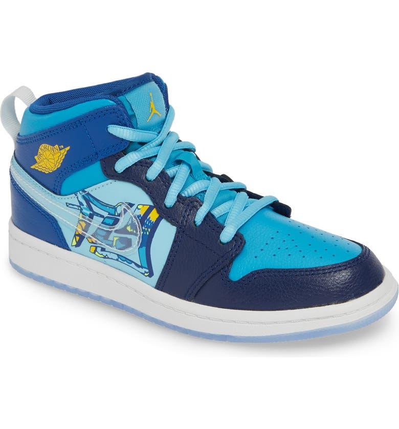 new product 6e940 efa11 Nike Air Jordan 1 Mid Basketball Shoe (Baby, Walker, Toddler ...