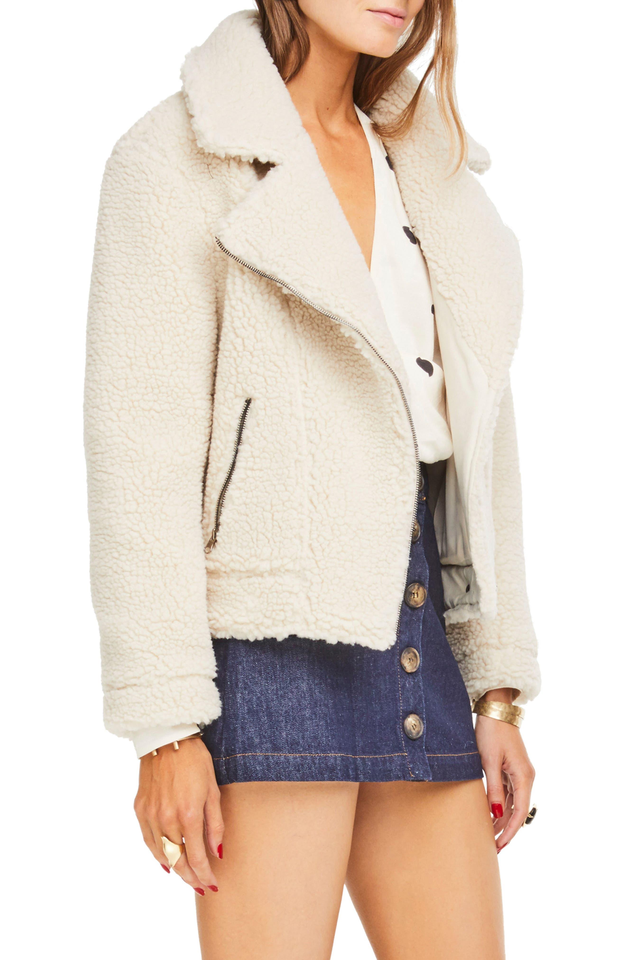 ,                             Brooklyn High Pile Fleece Jacket,                             Alternate thumbnail 7, color,                             900