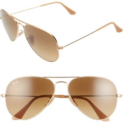 Ray-Ban Standard Original 5m Aviator Sunglasses - Brown