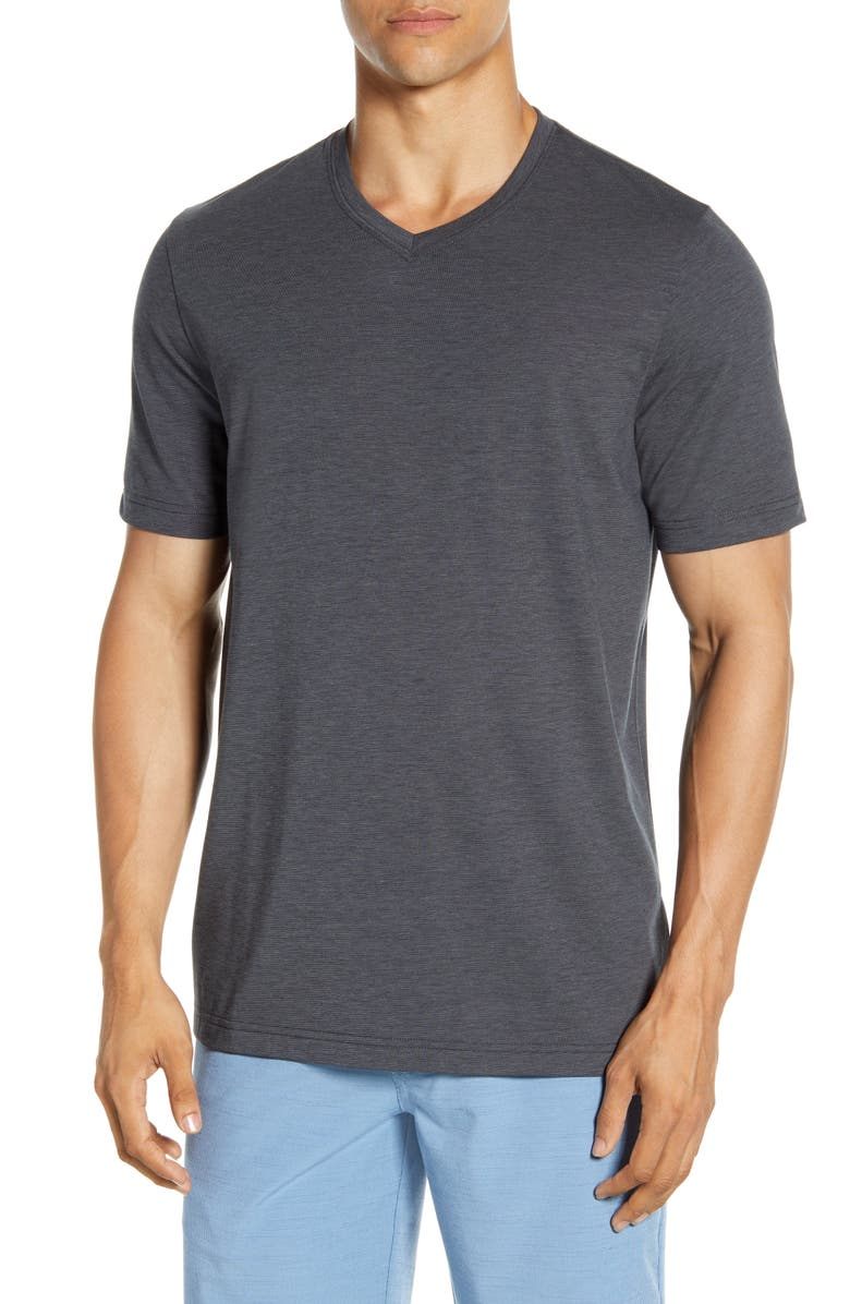 TRAVISMATHEW Potholder V-Neck T-Shirt, Main, color, HEATHER MA