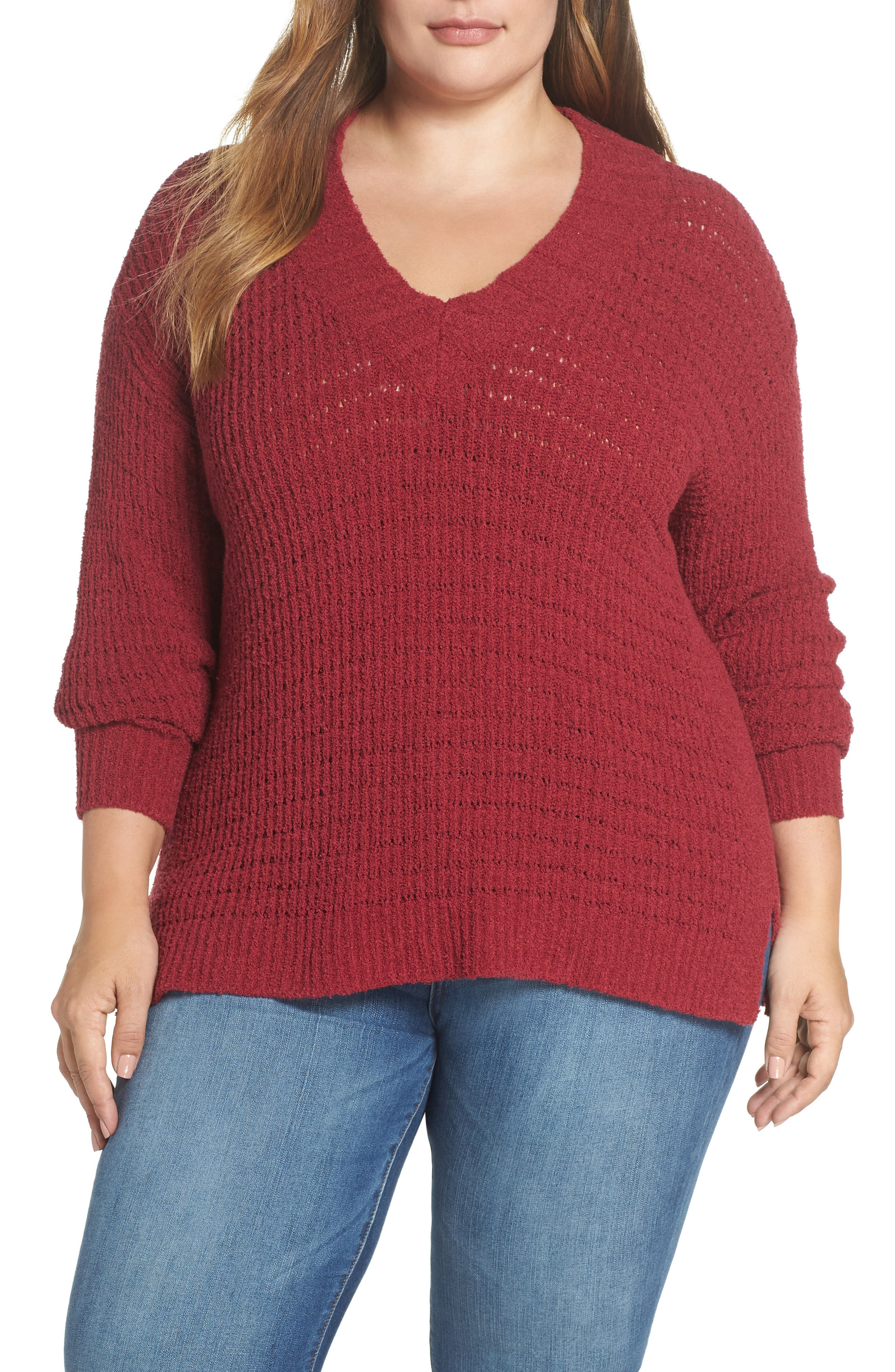 ,                             Tuck Stitch Sweater,                             Main thumbnail 7, color,                             601