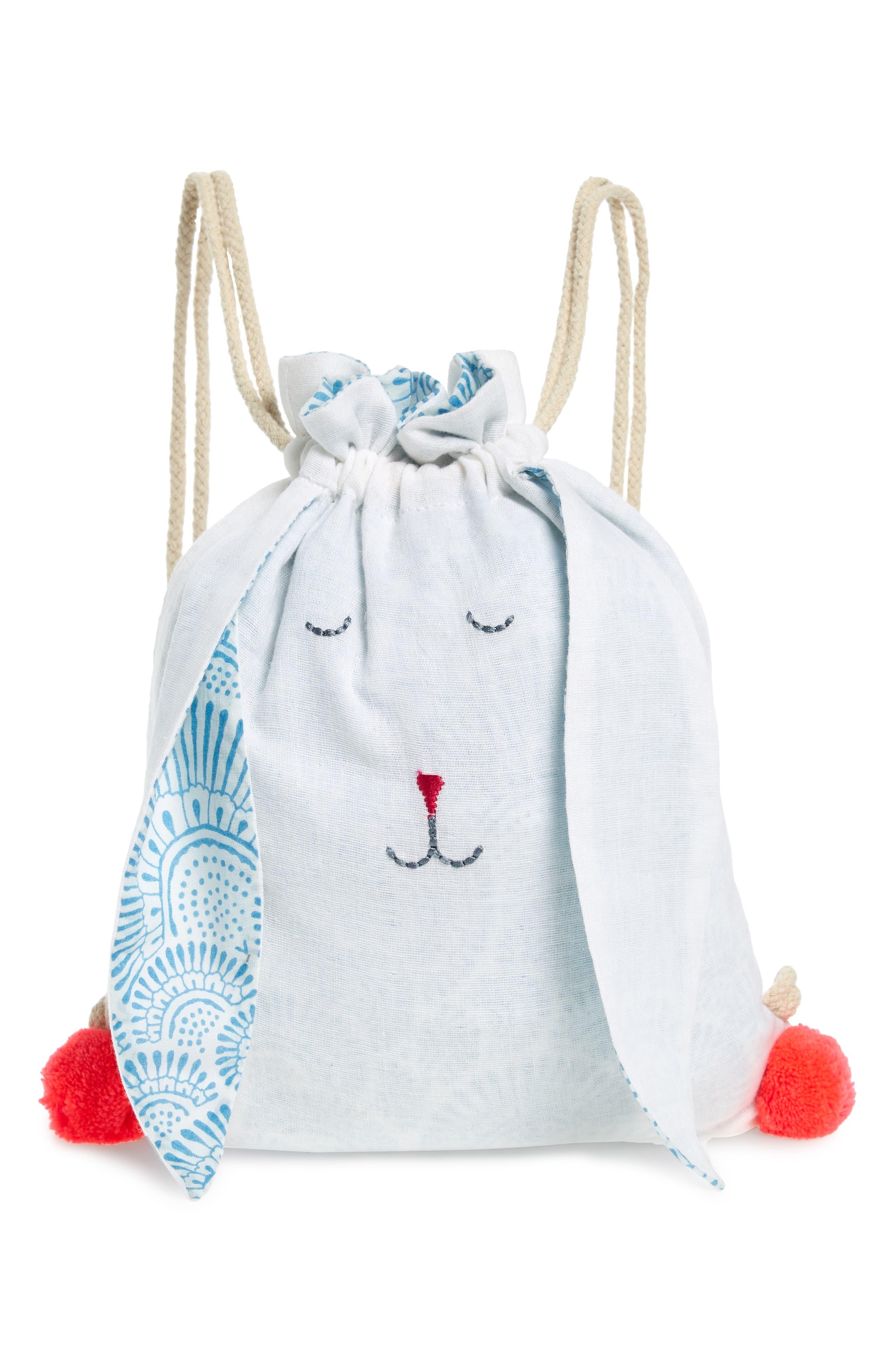 Girls Lali Bunny Sleepy Bunny Backpack  Blue