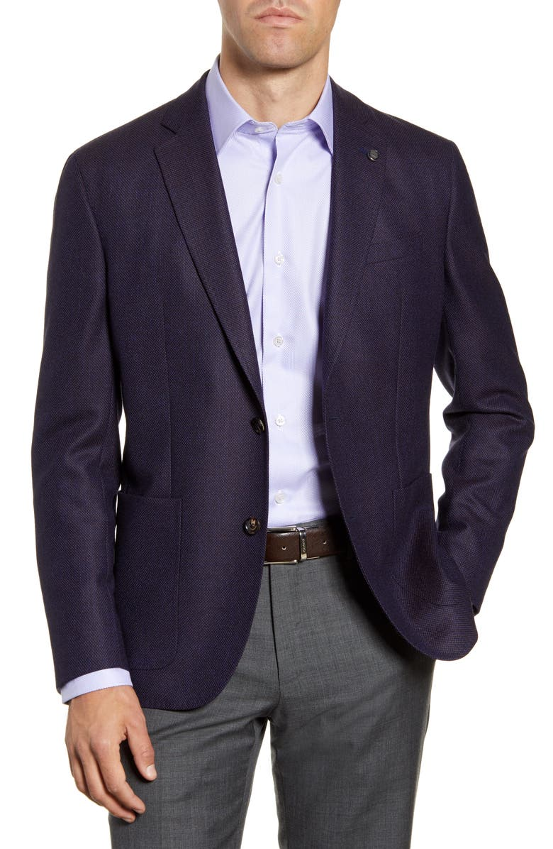 TED BAKER LONDON Kyle Trim Fit Solid Wool Sport Coat, Main, color, 500