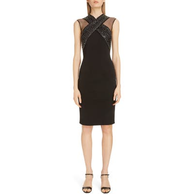 Givenchy Embellished X Front Body-Con Dress, Black