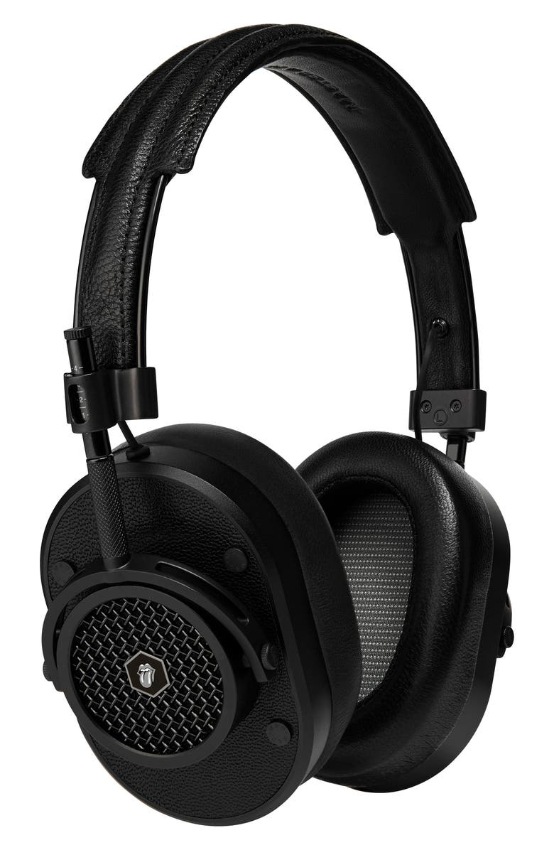 MASTER & DYNAMIC MH40 Leather Over Ear Headphones, Main, color, ROLLING STONE BLACK