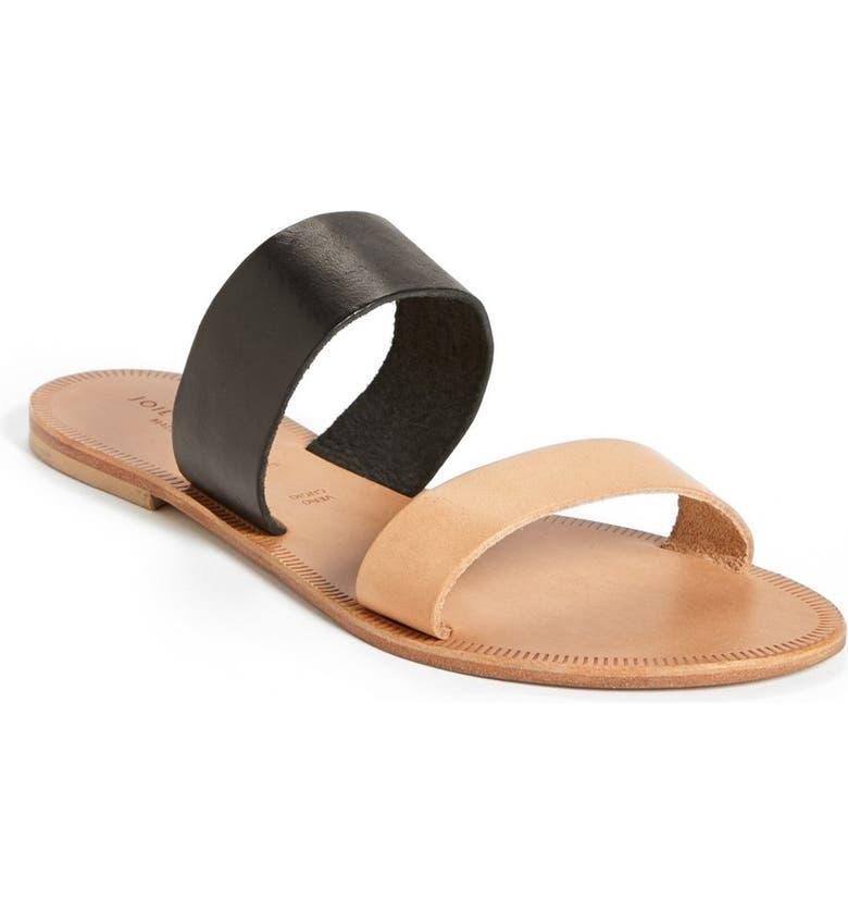 JOIE a la Plage 'Sable' Leather Slip-On Sandal, Main, color, 001