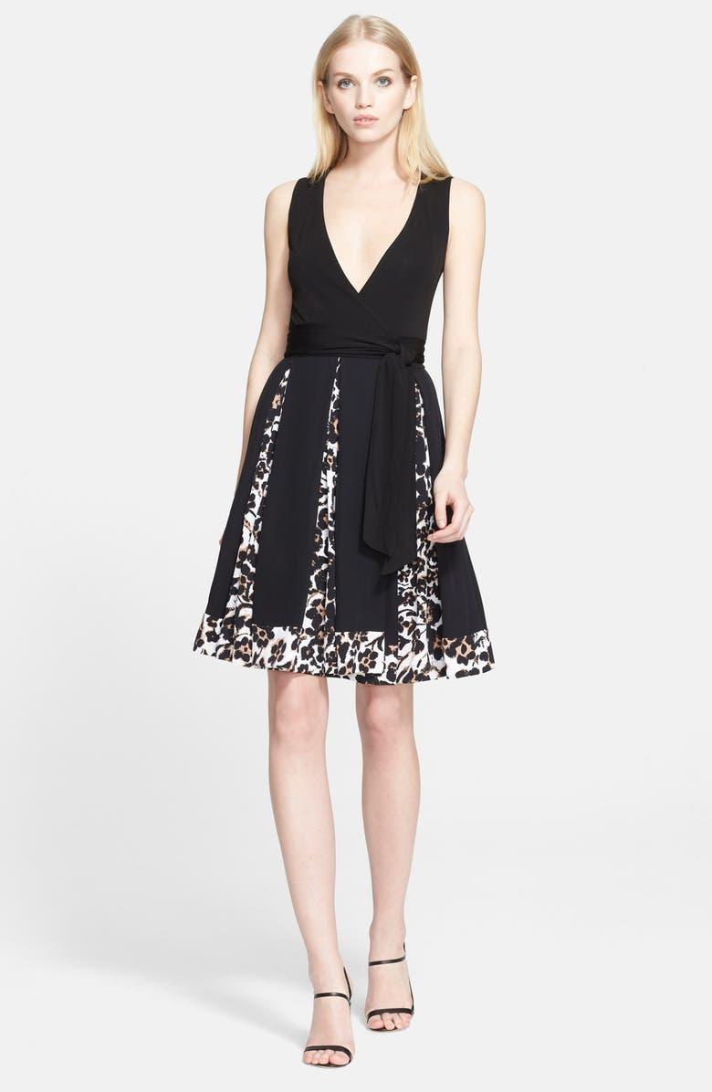 DIANE VON FURSTENBERG Cheetah Print Silk Wrap Dress, Main, color, 001