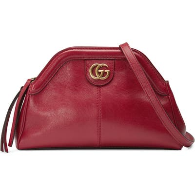 Gucci Small Re(Belle) Leather Crossbody Bag - Red