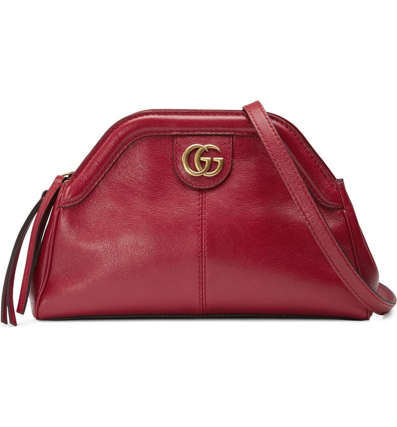 GUCCI Small RE(BELLE) Leather Crossbody Bag, Main, color, ROMANTIC CERISE