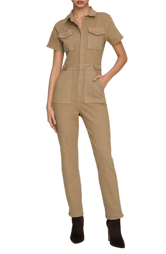 Good American Jumpsuits FIT FOR SUCCESS STRETCH COTTON TWILL JUMPSUIT