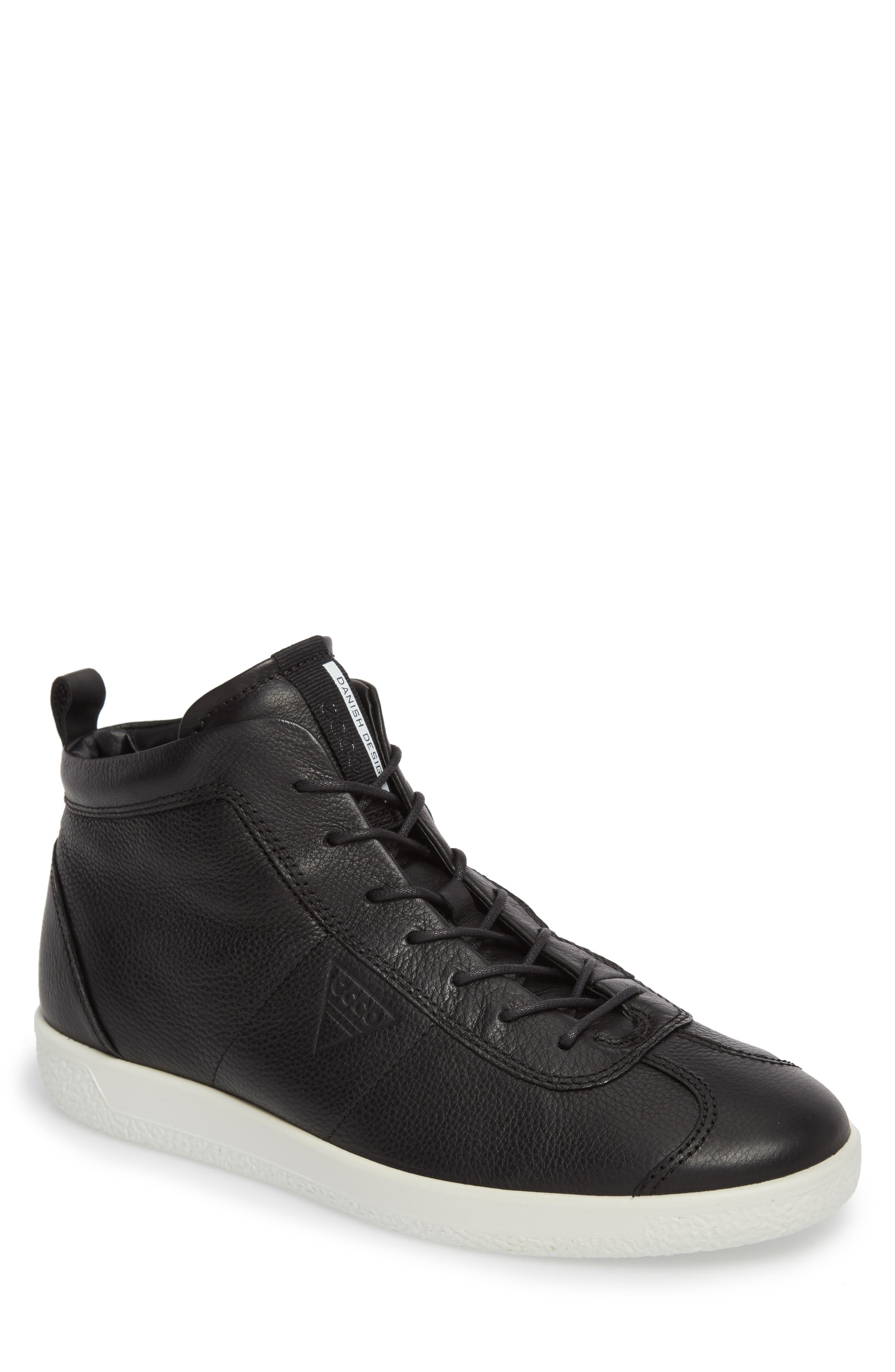 ECCO Soft 1 High Top Sneaker (Men