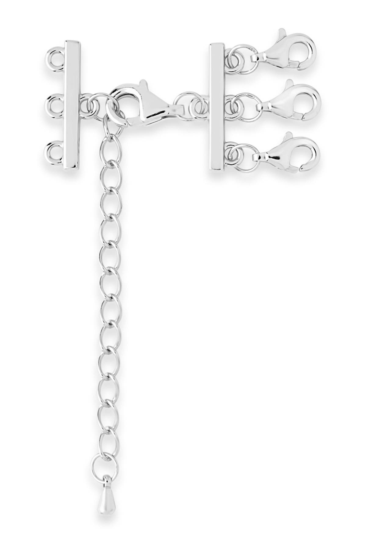 Image of Sterling Forever Sterling Silver Triple Layer Necklace Spacer