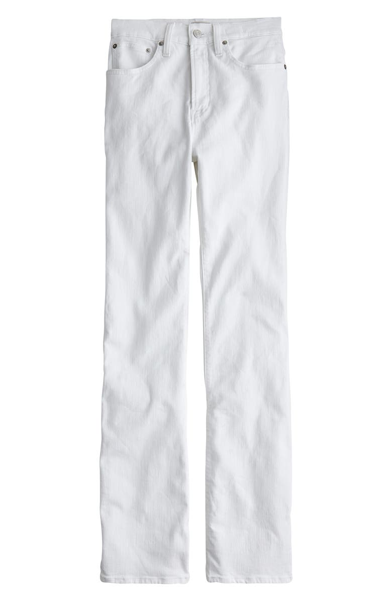 J.CREW Curvy Demi Bootcut Jeans, Main, color, WHITE