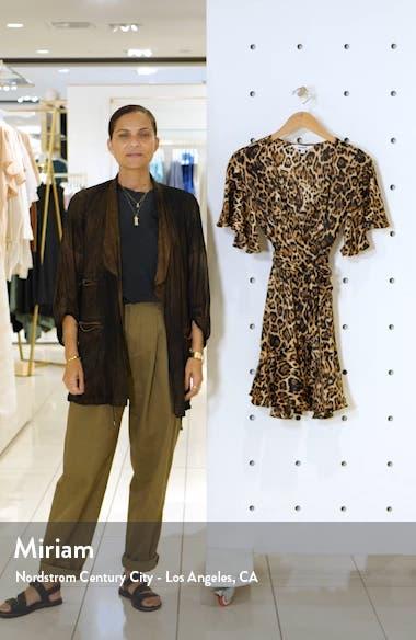 Leopard Print Satin Wrap Dress, sales video thumbnail