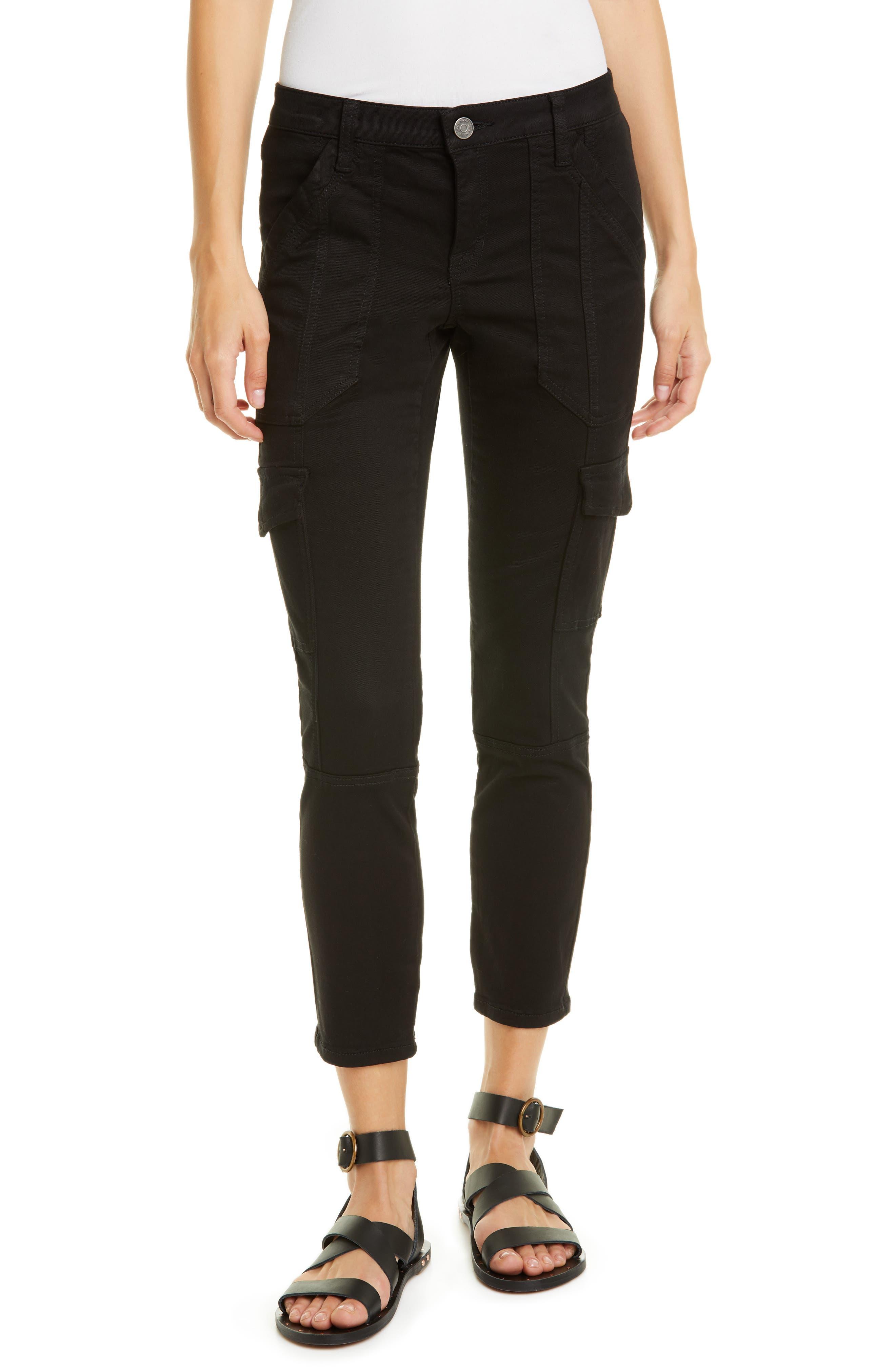 Joie Okana Skinny Cargo Pants, Black