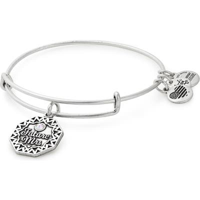 Alex And Ani Future Mrs. Adjustable Wire Bangle