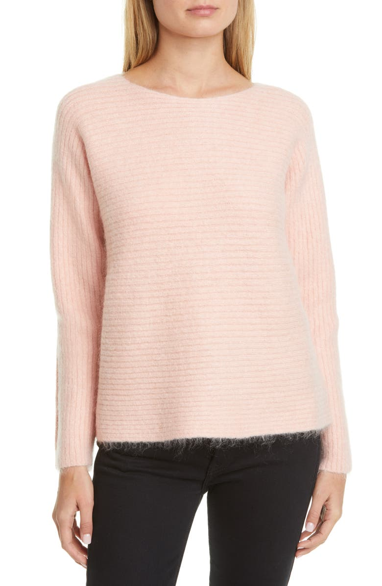 ADAM LIPPES Boatneck Mohair Blend Sweater, Main, color, 689