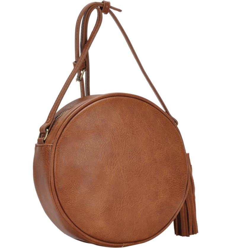 ANTIK KRAFT Circle Crossbody Bag, Main, color, TAN