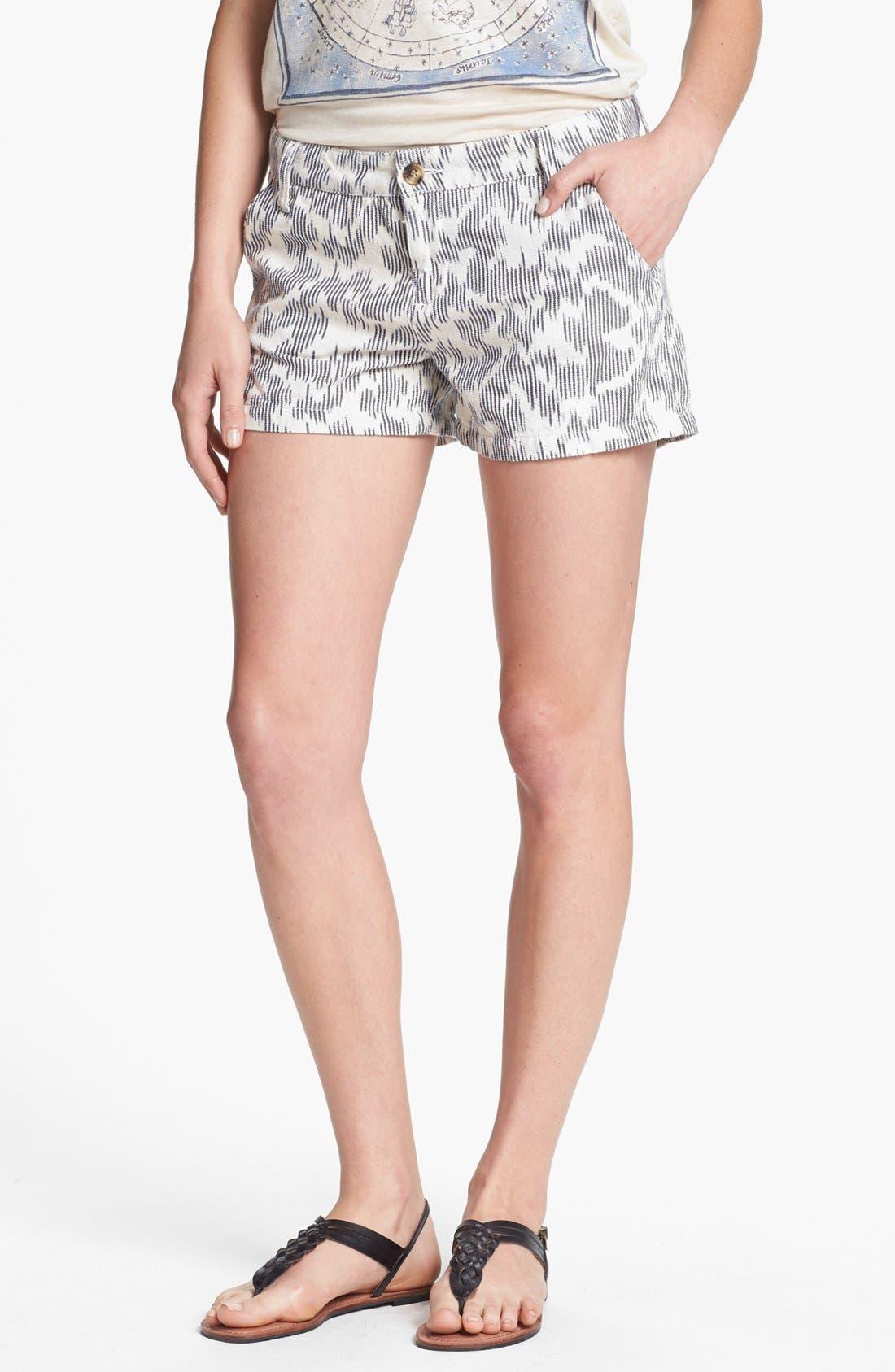 'Leela' Ikat Print Shorts, Main, color, 101