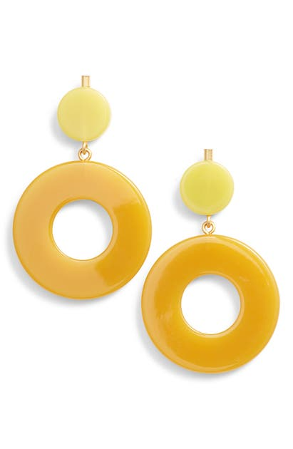 Circle Statement Earrings In Mystic Yellow Multi
