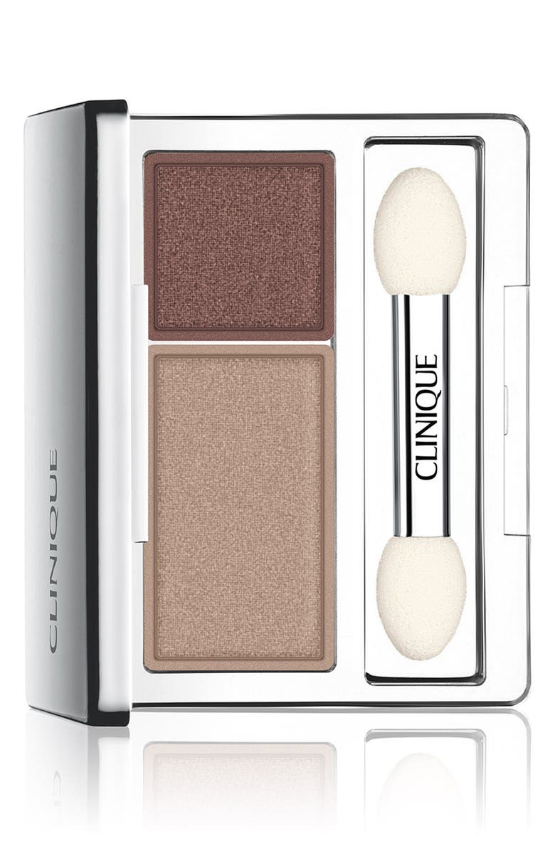 CLINIQUE All About Shadow Eyeshadow Duo, Main, color, IVORY BISQUE/ BRONZE SATIN