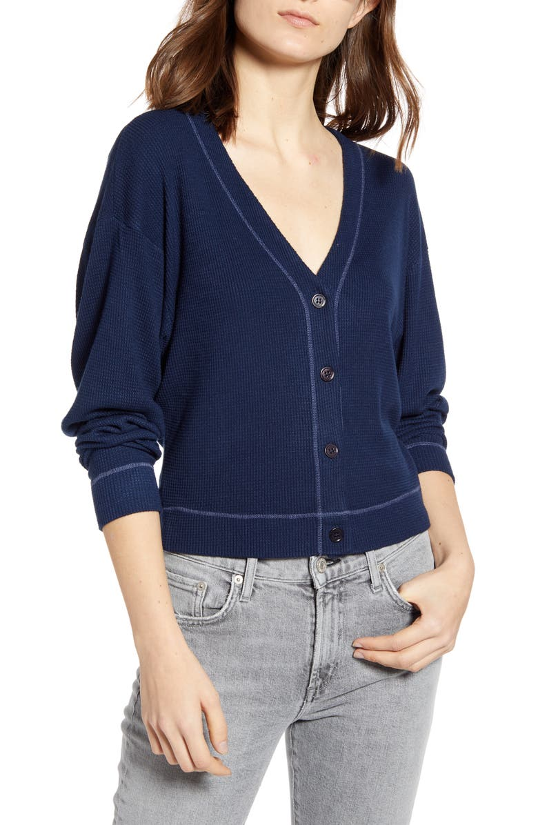 STATESIDE Thermal Cardigan, Main, color, 410