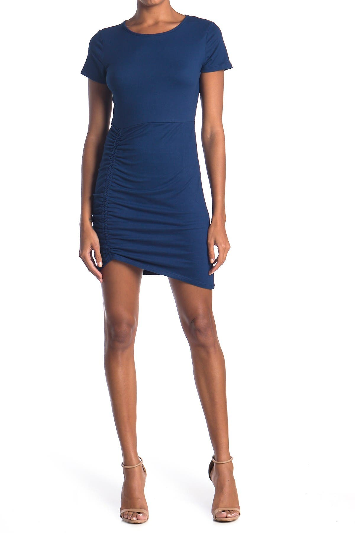Image of Vanity Room Ruched Side Bodycon T-Shirt Dress
