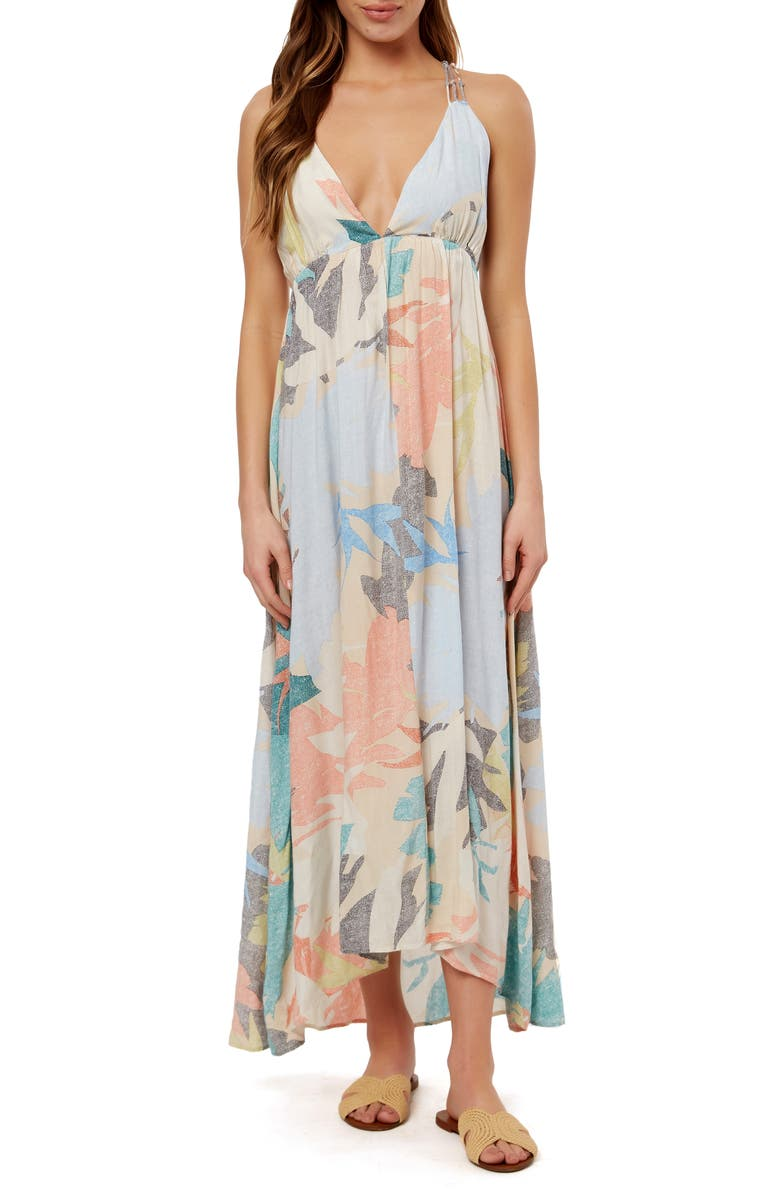 O'NEILL Kaitlyn Floral Print Maxi Dress, Main, color, MULTI COLORED