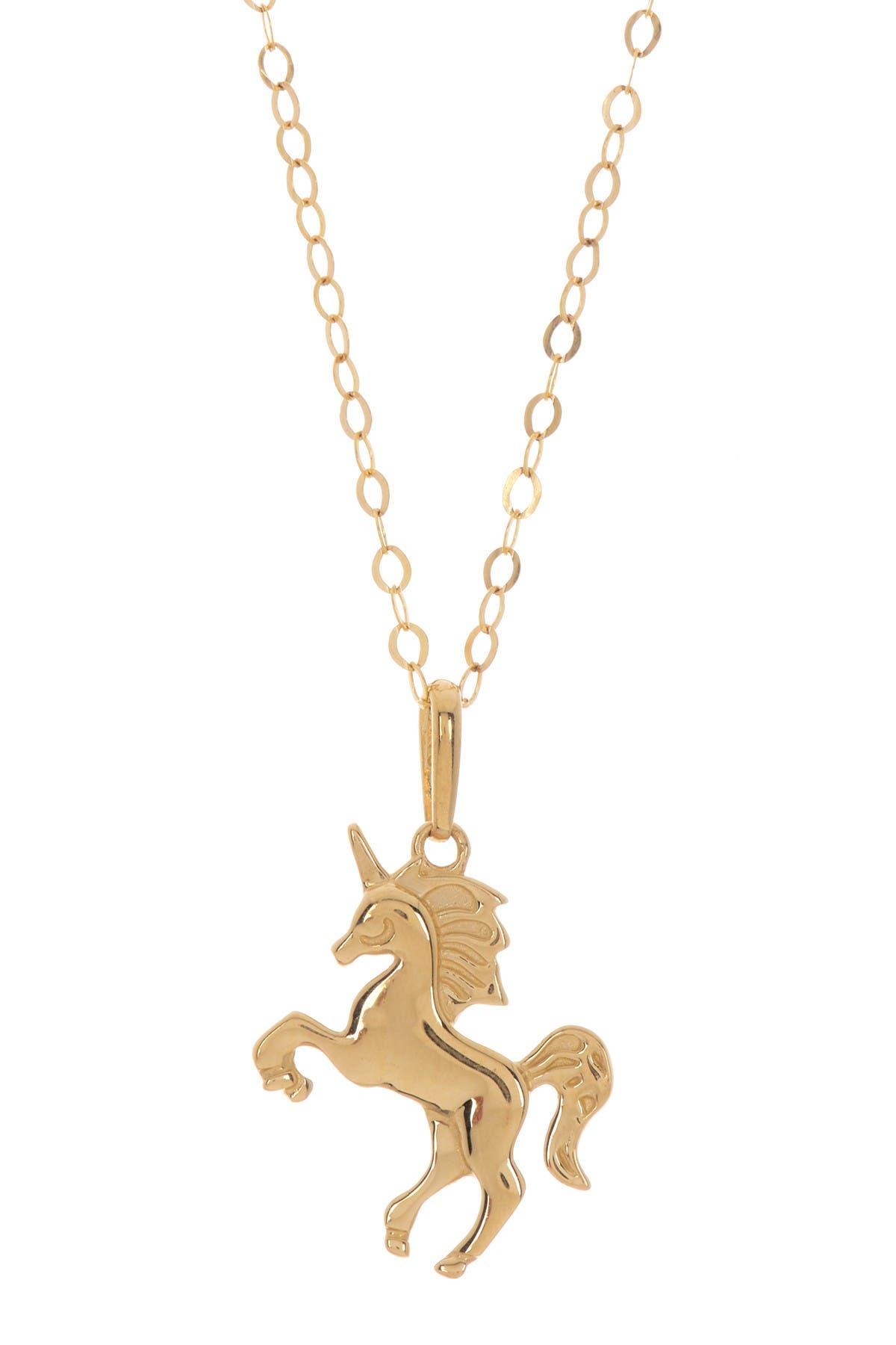 Image of Candela 14K Yellow Gold Unicorn Pendant Necklace