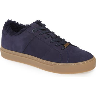 Greats Royale Winterized Genuine Shearling Lined Sneaker- Blue
