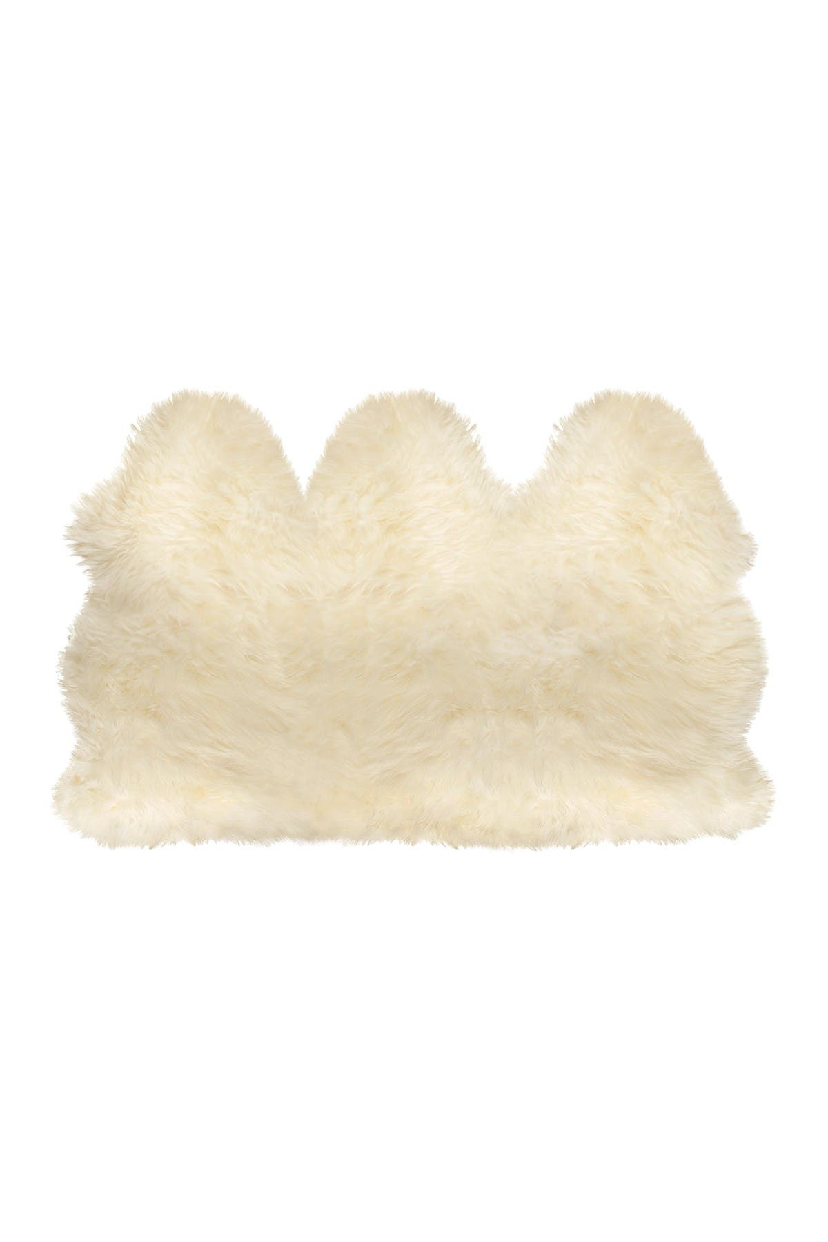 Image of Natural Genuine Sheepskin Throw - 3' x 5' - Natural