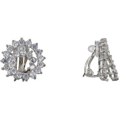 Nina Pave Swirl Clip-On Earrings