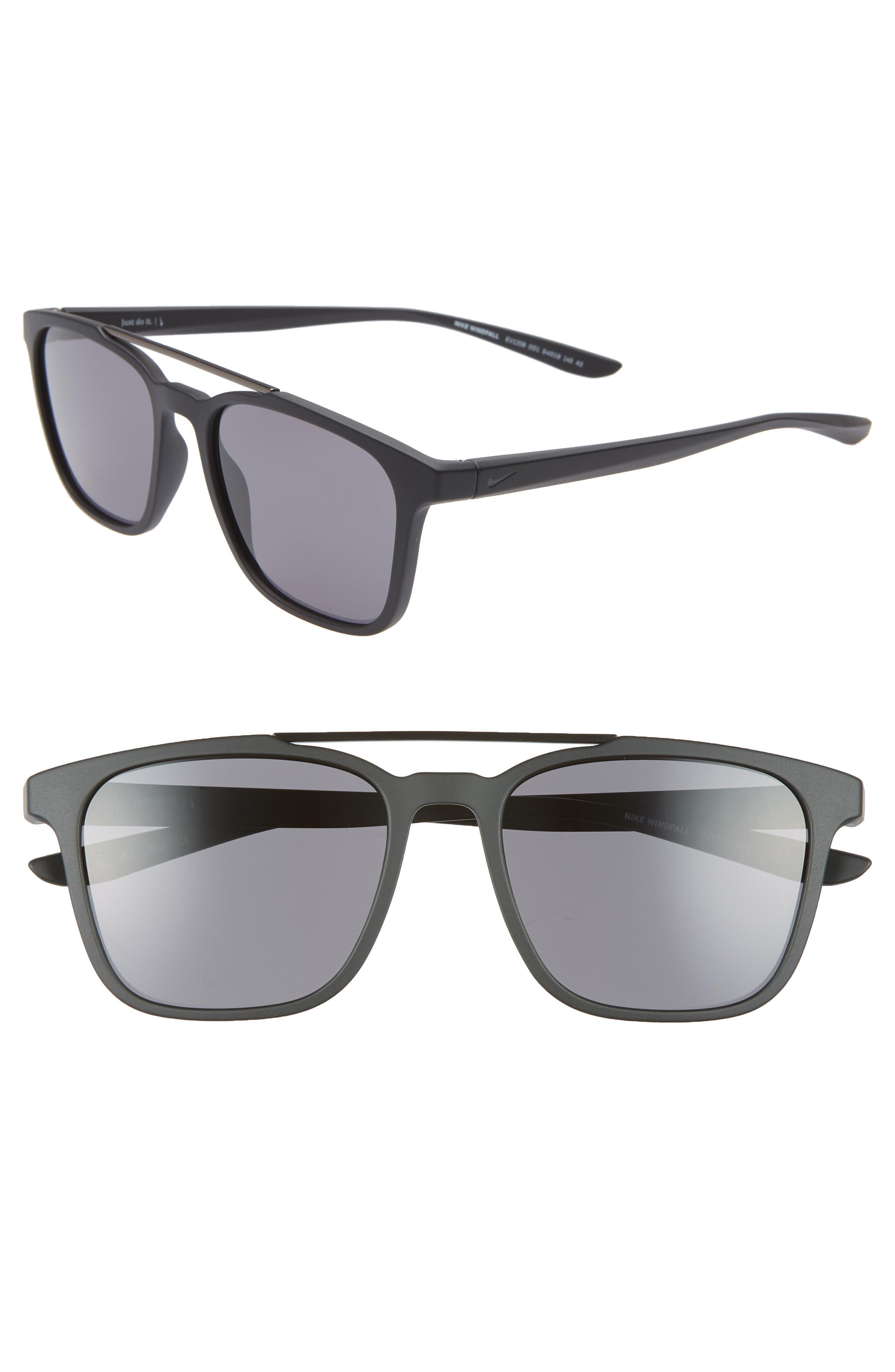 Nike Windfall 5m Square Sunglasses - Matte Black/ Dark Grey