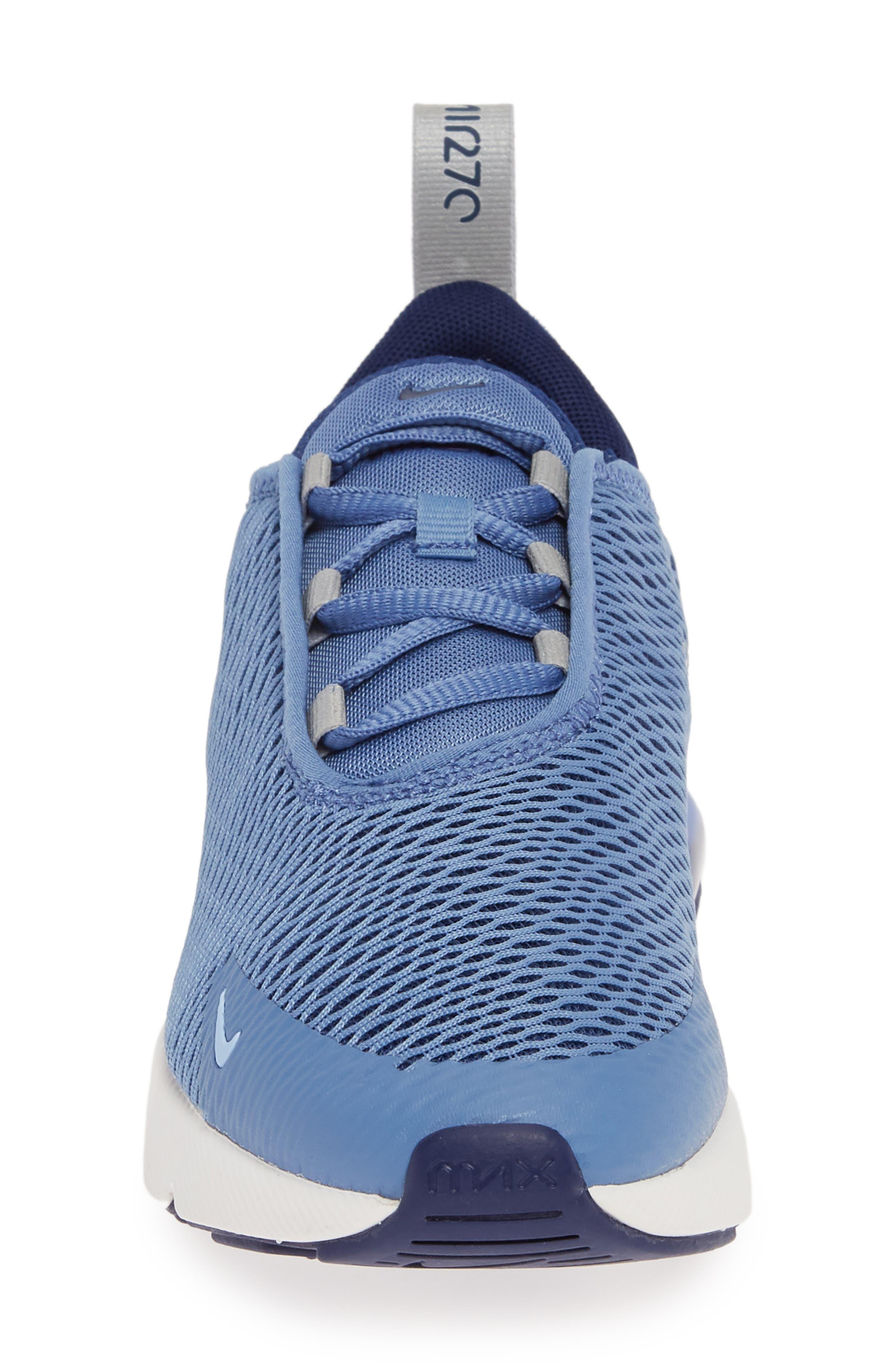 ,                             Air Max 270 Sneaker,                             Alternate thumbnail 4, color,                             INDIGO STORM/ METALLIC SILVER