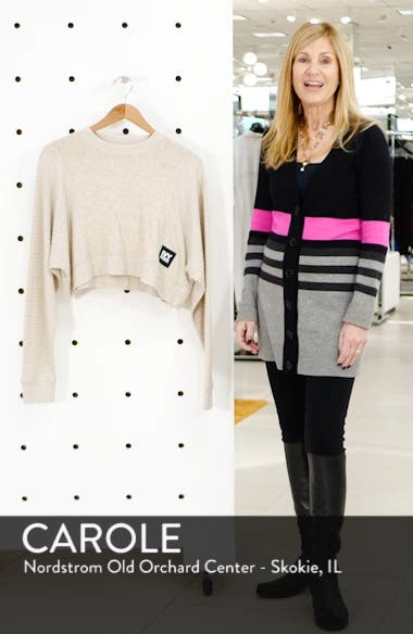 Contrast Rib Crop Lounge Sweatshirt, sales video thumbnail
