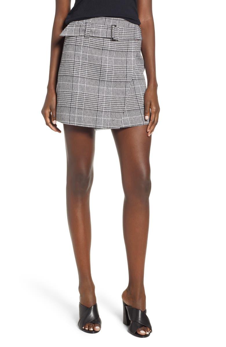 LEITH Plaid Miniskirt, Main, color, 001