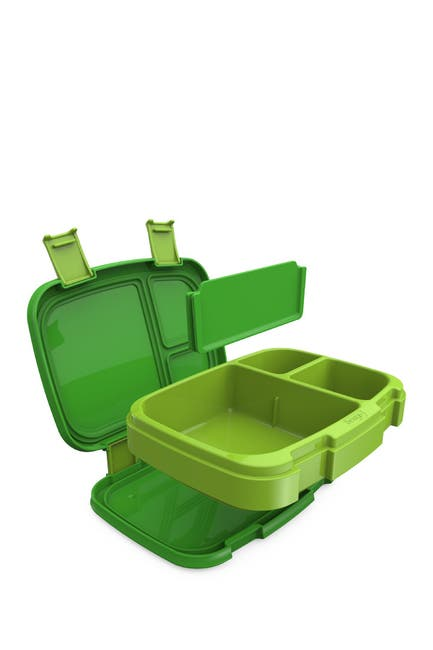 Image of BENTGO 2-Pack of Fresh Leak-Proof Versatile 4-Compartment Bento-Style Lunch Box - Green