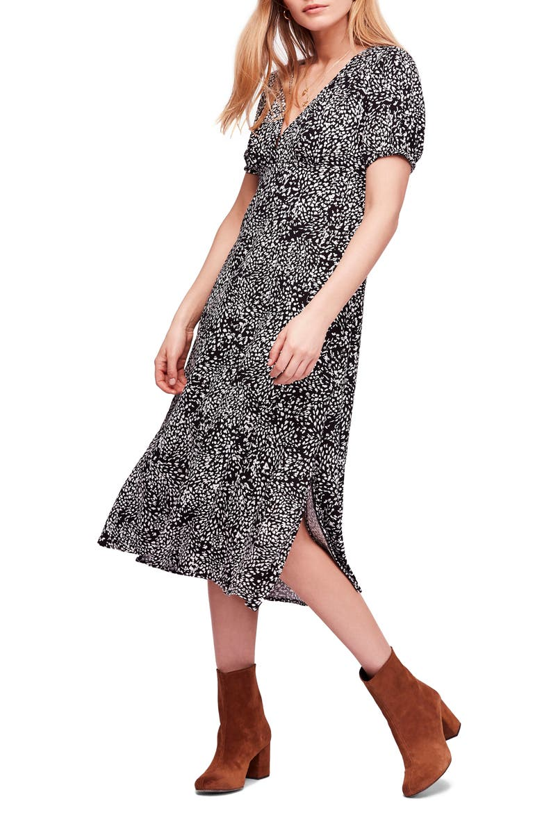 FREE PEOPLE Looking for Love Midi Dress, Main, color, 001