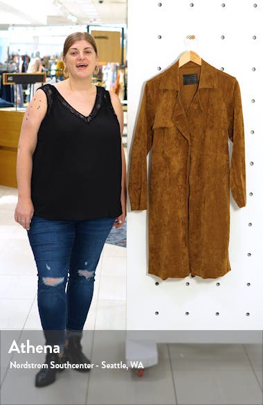 Faux Suede Trench Coat, sales video thumbnail